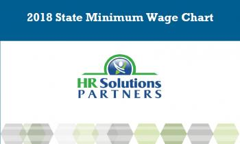 US States minimum wage chart